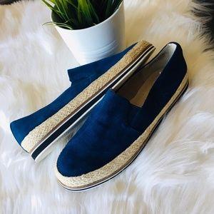 LANDS END' Blue Slip On Sneakers Shoes Women's 7